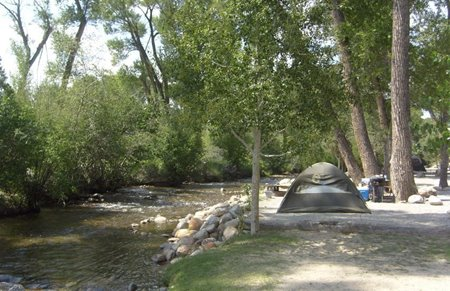 Scenic Chalk Creek Campground camping picture